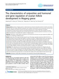 The characteristics of oviposition and hormonal and gene regulation ...