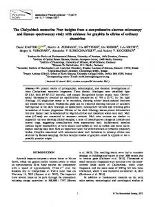 The Chelyabinsk meteorite: New insights from a ... - Wiley Online Library