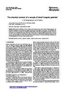 The chemical content of a sample of dwarf irregular galaxies