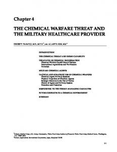 THE CHEMICAL WARFARE THREAT AND THE MILITARY ...