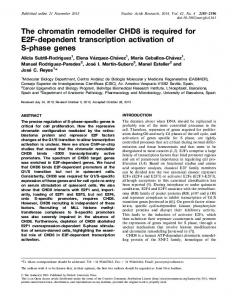 The chromatin remodeller CHD8 is required for E2F ... - BioMedSearch