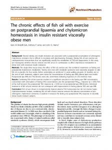 The chronic effects of fish oil with exercise on ... - BioMedSearch
