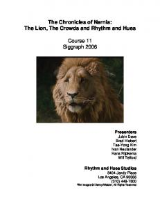 The Chronicles of Narnia: The Lion, The Crowds ... - Ivan Neulander