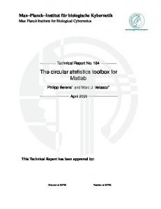 The circular statistics toolbox for Matlab - Max Planck Institute for ...