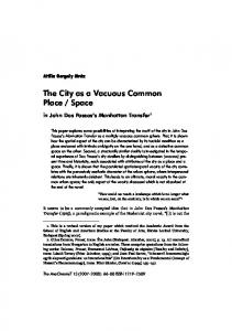 The City as a Vacuous Common Place / Space - SEAS
