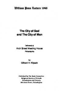 The City of God and The City of Man