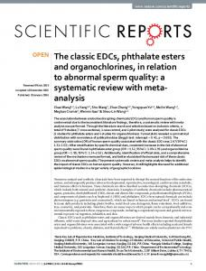 The classic EDCs, phthalate esters and ... - Semantic Scholar