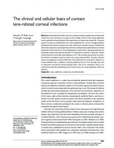 The clinical and cellular basis of contact lens