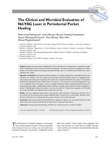 The Clinical and Microbial Evaluation of Nd:YAG Laser in Periodontal ...
