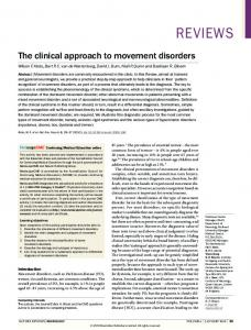 The clinical approach to movement disorders