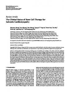 The Clinical Status of Stem Cell Therapy for Ischemic Cardiomyopathy