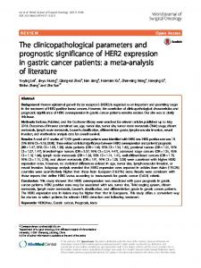 The clinicopathological parameters and prognostic significance of ...