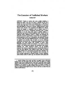 The Coercion of Trafficked Workers - USC Dornsife