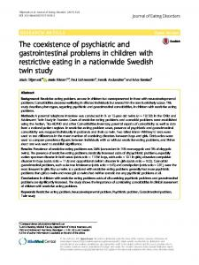 The coexistence of psychiatric and gastrointestinal problems in ...