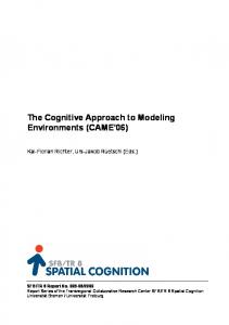 The Cognitive Approach to Modeling Environments