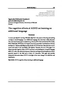 The cognitive effects of ADHD on learning an additional language