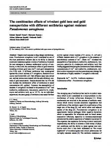 The combination effects of trivalent gold ions and gold nanoparticles ...