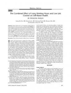 The Combined Effect of Long Working Hours and ... - Semantic Scholar