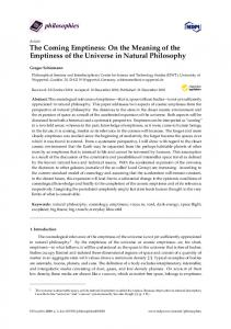 The Coming Emptiness: On the Meaning of the Emptiness of ... - MDPI