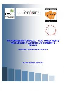 the commission for equality and human rights and ...