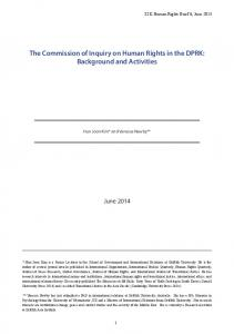 The Commission of Inquiry on Human Rights in the DPRK ...