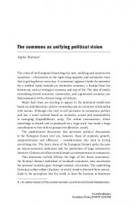 The commons as unifying political vision