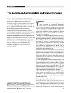 The Commons, Communities and Climate Change - India ...
