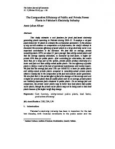 The Comparative Efficiency of Public and Private Power Plants in ...