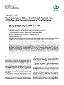 The Comparison of Adipose Stem Cell and Placental Stem Cell in ...