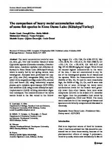 The comparison of heavy metal accumulation ratios of ... - Springer Link