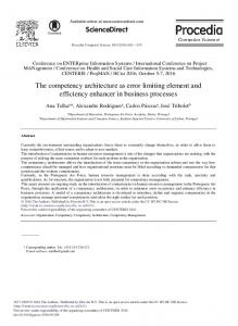 The Competency Architecture as Error Limiting ... - Science Direct