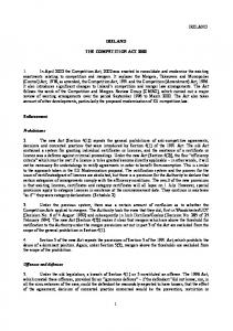 THE COMPETITION ACT 2002 - Organisation for Economic Co ...