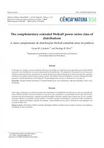 The complementary extended Weibull power series class of distributions