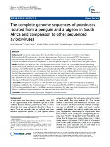 The complete genome sequences of poxviruses isolated from a ...