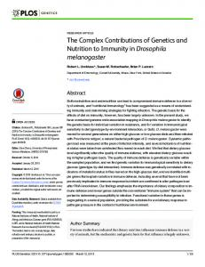 The Complex Contributions of Genetics and Nutrition to ... - PLOS