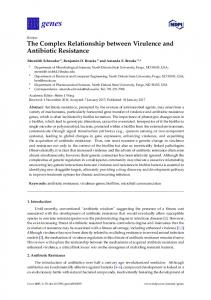 The Complex Relationship between Virulence and Antibiotic ... - MDPI