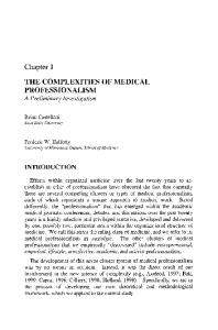 The Complexities of Medical Professionalism