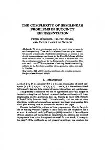 the complexity of semilinear problems in succinct representation