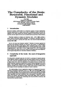 The Complexity of the Brain: Structural, Functional ... - Semantic Scholar