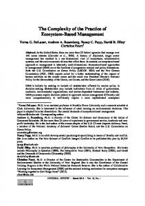 The Complexity of the Practice of Ecosystem-Based ... - Integral Review