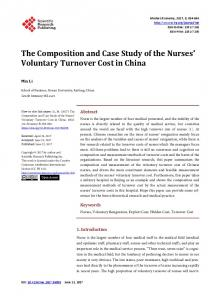 The Composition and Case Study of the Nurses' Voluntary Turnover ...