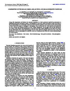 The Composition of the Solar Corona, Solar Wind, and Solar Energetic ...