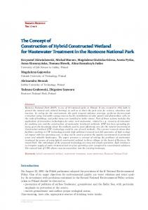 The Concept of Construction of Hybrid Constructed Wetland for ...