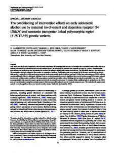 The conditioning of intervention effects on early ... - CiteSeerX