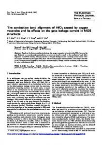 The conduction band alignment of HfO2 caused by oxygen vacancies ...