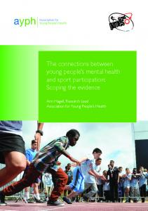 The connections between young people's mental health and sport ...