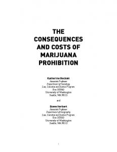 the consequences and costs of marijuana prohibition - ACLU of ...
