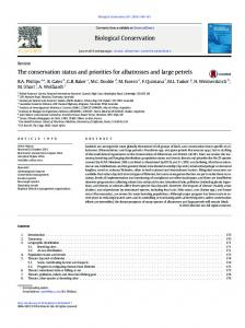 The conservation status and priorities for albatrosses and large petrels