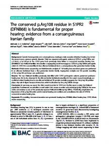 The conserved p.Arg108 residue in S1PR2 (DFNB68) is fundamental
