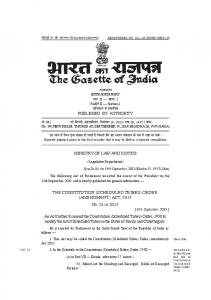 THE CONSTITUTION (SCHEDULED TRIBES) ORDER ... - India Code
